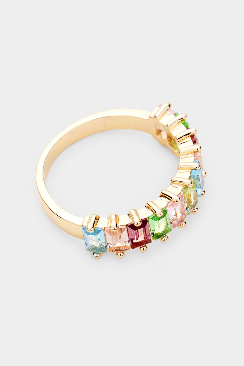 Gold Rainbow Ring - Embellish Your Life
