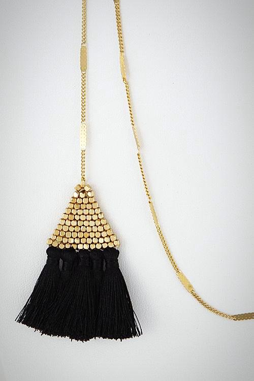 Triangle Tassel Lariat Necklace