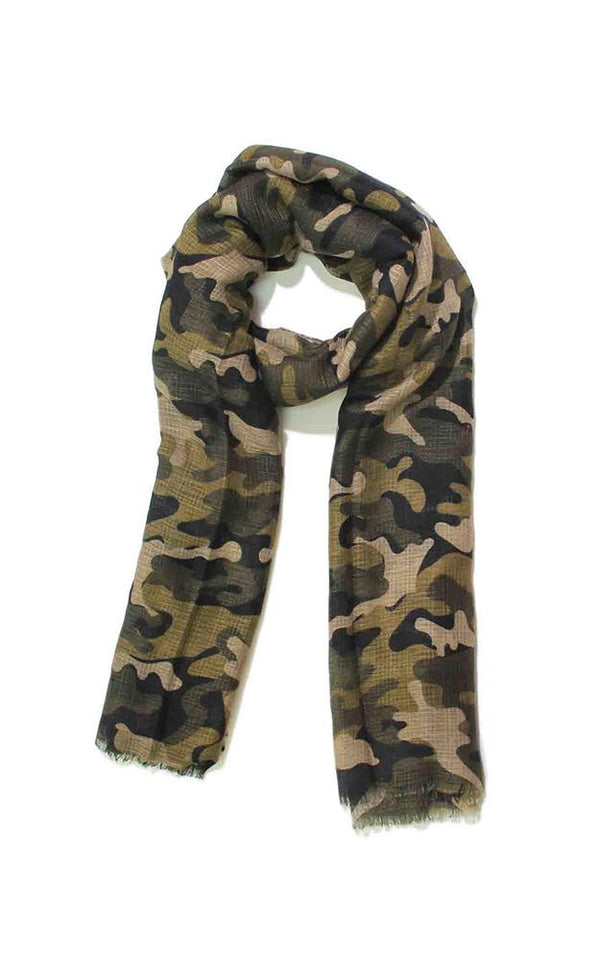 Camo Green Vest/ Scarf - Embellish Your Life