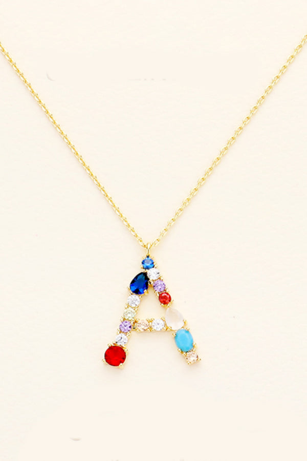 Bright Initial Necklace