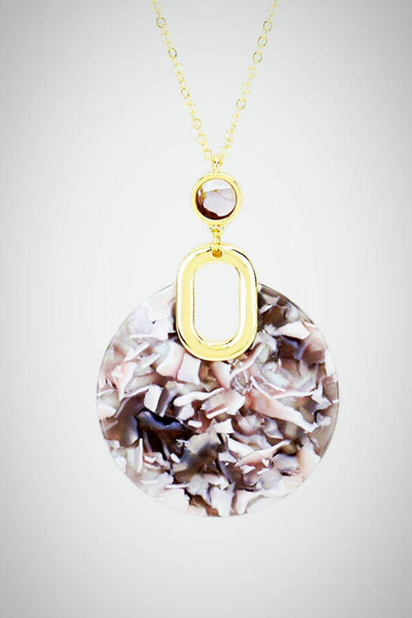 Resin Round Necklace - Embellish Your Life