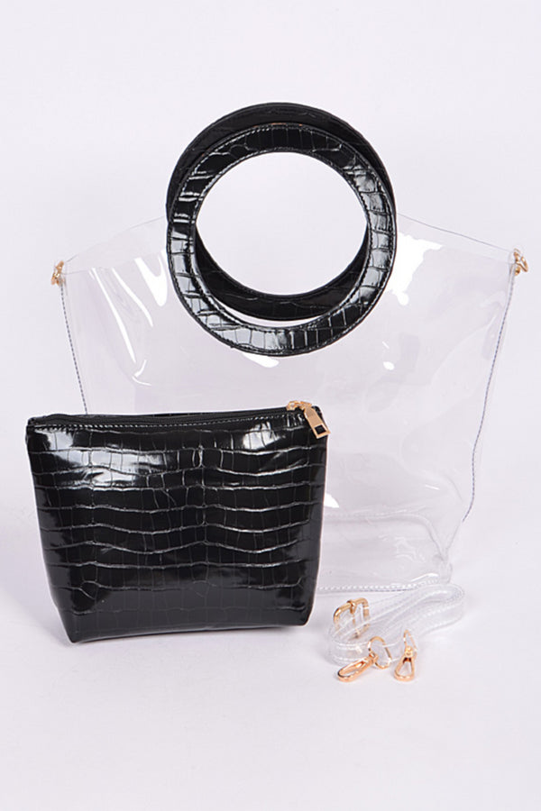 Clear Round Handle Bag