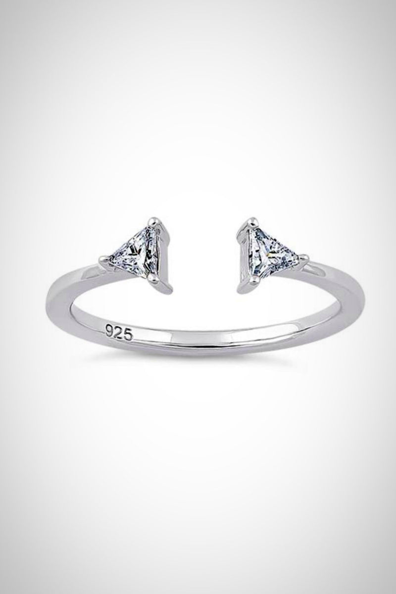 Sterling Triangle Tip Ring