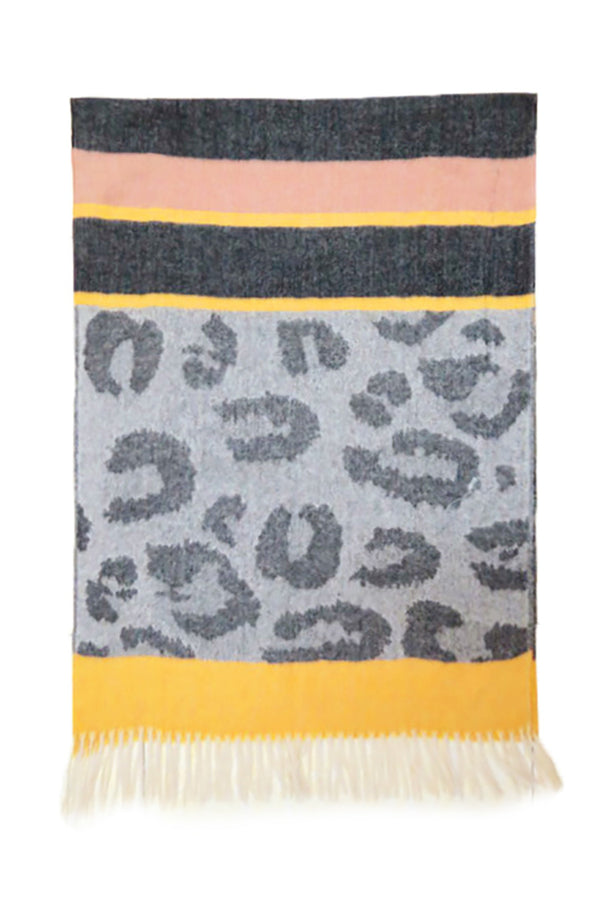 Leopard Tone on Tone Scarf