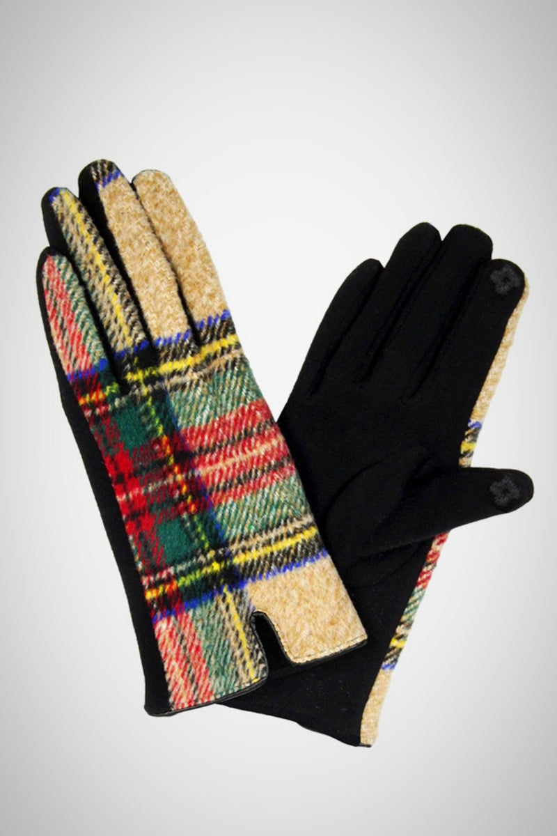 Tartan Plaid Smart Gloves - Embellish Your Life