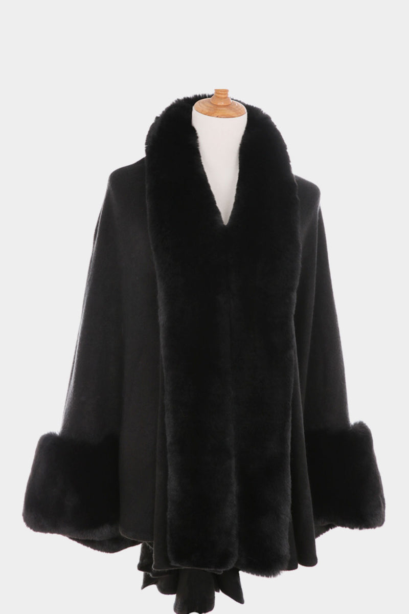 Faux Fur Sleeved Wrap - Embellish Your Life