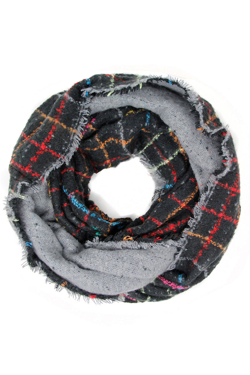 Window Pane Infinity Scarf - Embellish Your Life