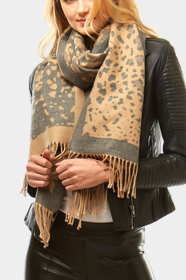 Reversible Animal Print Scarf