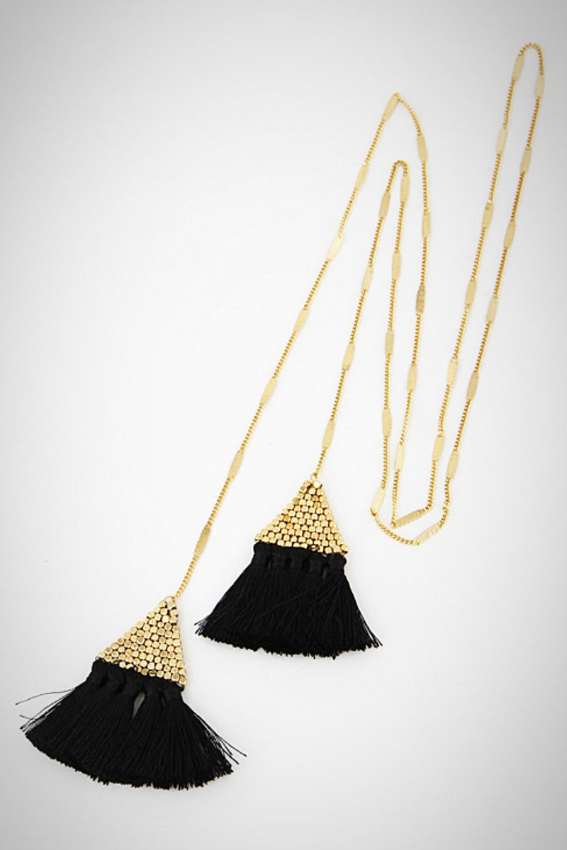 Triangle Tassel Lariat Necklace - Embellish Your Life