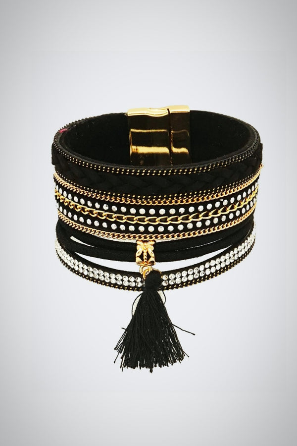 Black Tassel Bracelet - Embellish Your Life