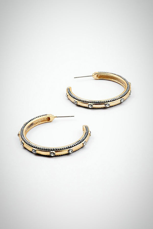 Classic Love Hoop Earrings - Embellish Your Life