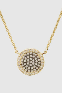 Pave Round Necklace - Embellish Your Life