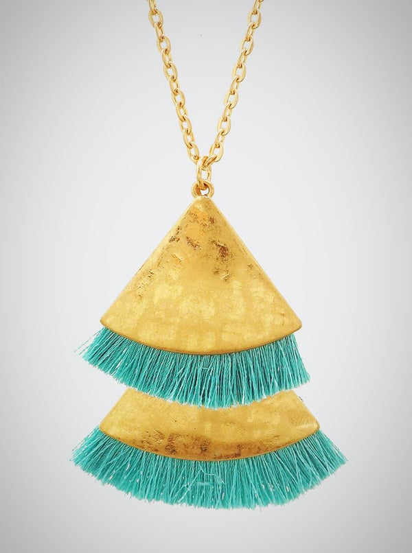 Tri Tassel Necklace