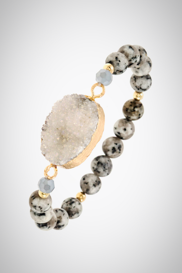 Druzy Oval Stretch Bracelet