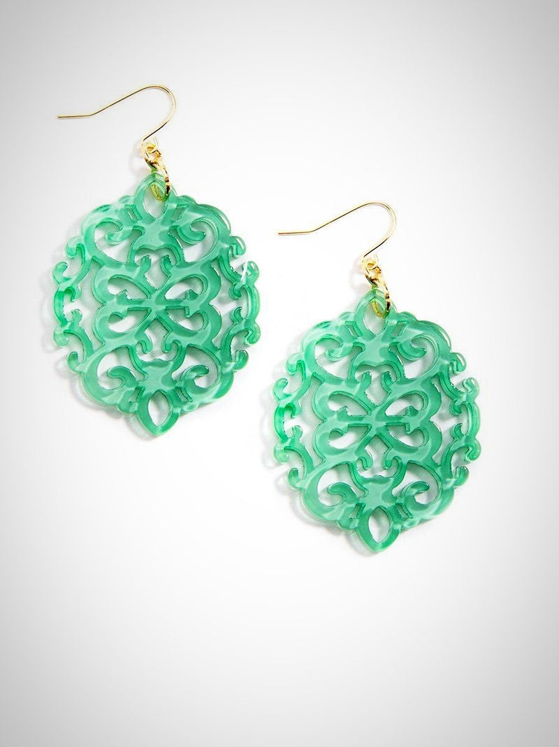 Oval Damask Earrings