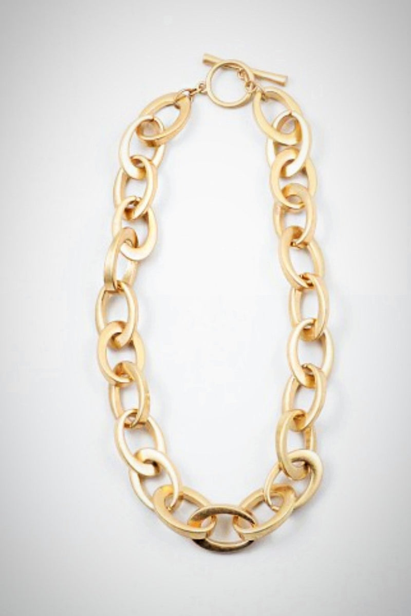 Golden Links Necklace - Embellish Your Life