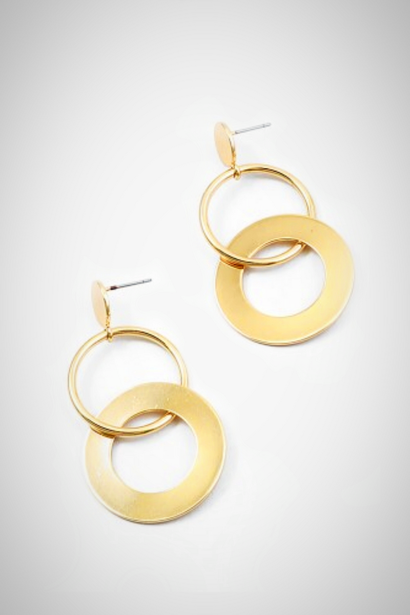 Golden Double Hoop Earrings - Embellish Your Life
