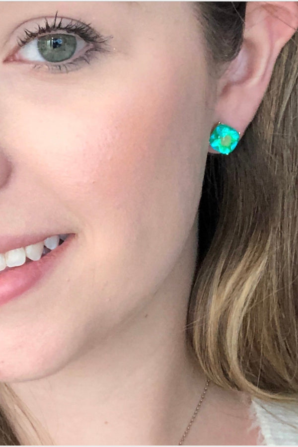 Cushion Stud Earrings - Embellish Your Life