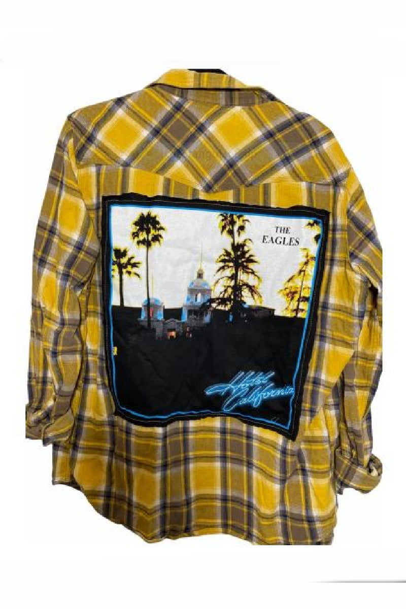 Hotel California Plaid Flannel Shirt - Embellish Your Life