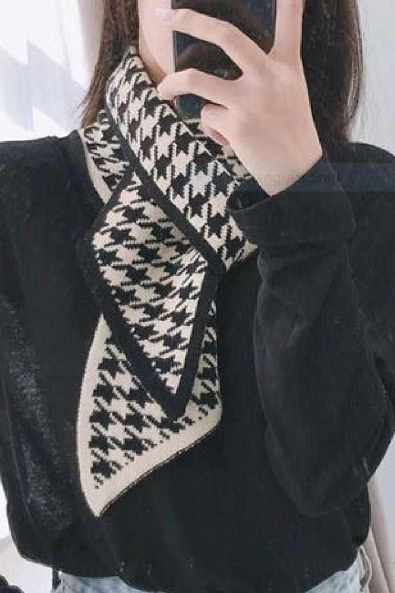 Houndstooth Narrow Scarf - Embellish Your Life
