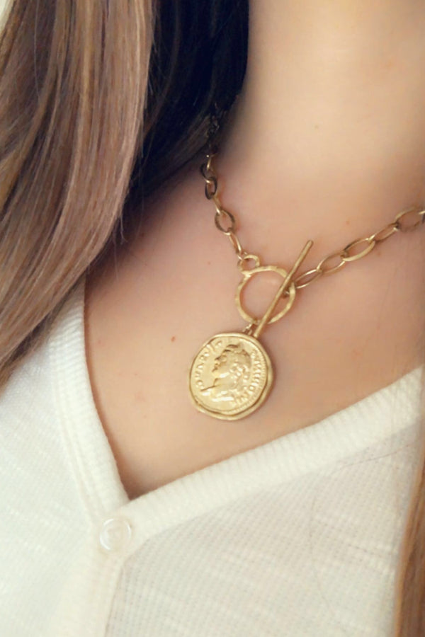 Gold Cash Necklace