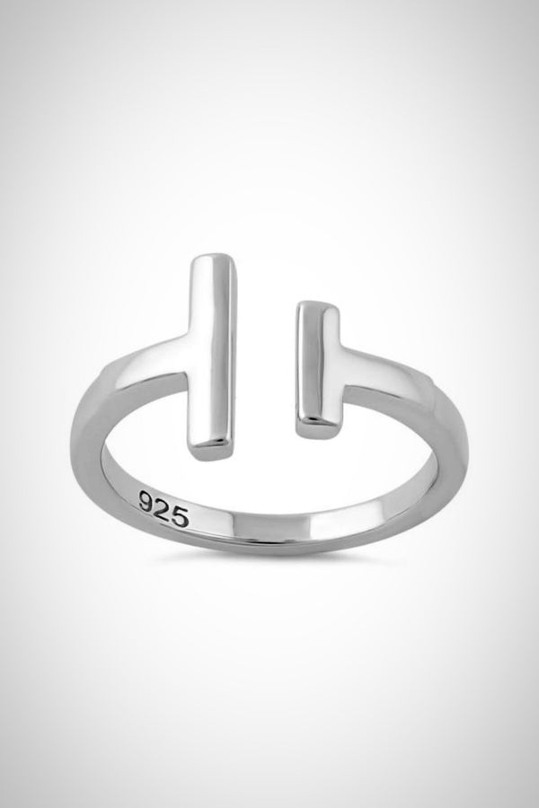 Sterling Uneven Bars Ring