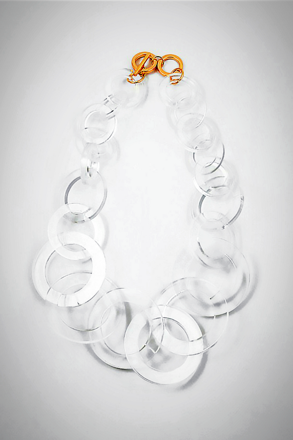 Lucite Large-Links Necklace