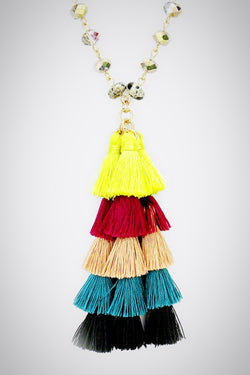 Colors Tassel Necklace