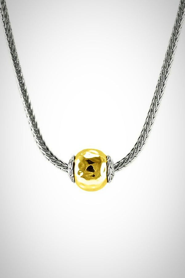 2-Tone Ball Necklace