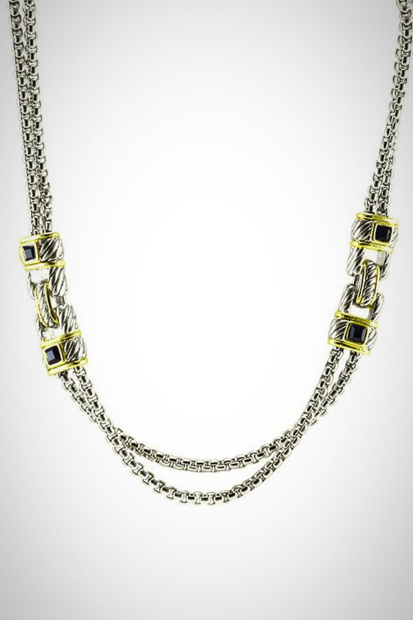 2-Tone Statement Necklace - Embellish Your Life