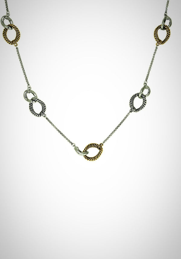 2 Tone Long Necklace