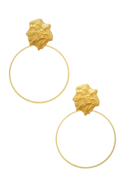 Golden Nugget Hoop - Embellish Your Life