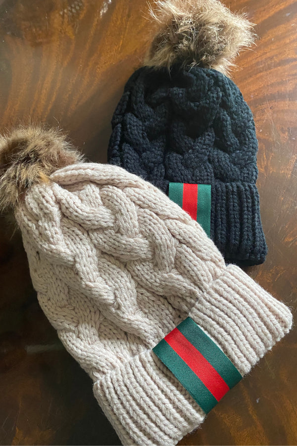 Gucci Inspired Knit Pom Hat