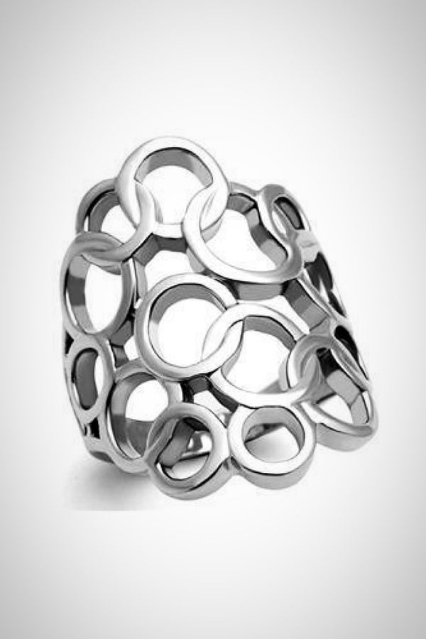 Silver Bubbles Ring - Embellish Your Life