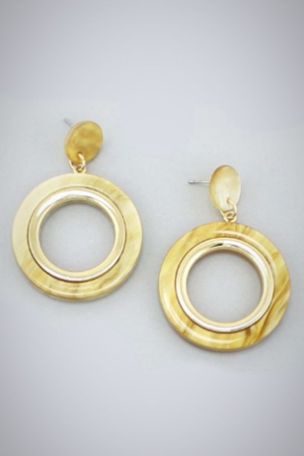Caramel Ring Earrings