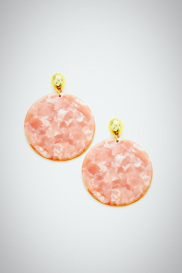 Resin Swirl (Peach) Earrings