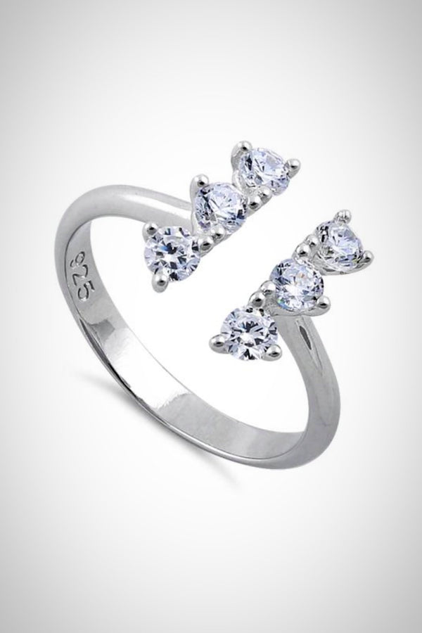 Sterling CZ Bar Ring