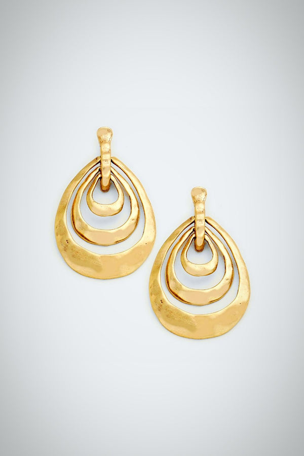 Triple Play Gold Earrings - Embellish Your Life