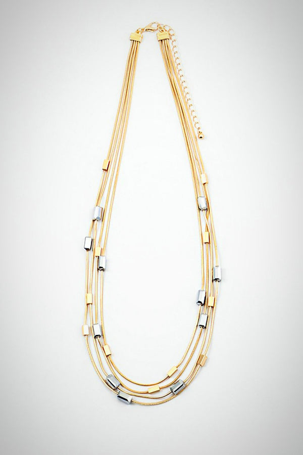 Golden Strands Necklace - Embellish Your Life