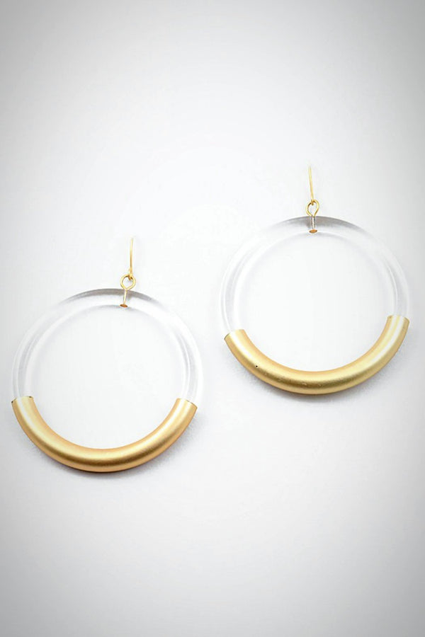 Lucite Loop Earrings - Embellish Your Life