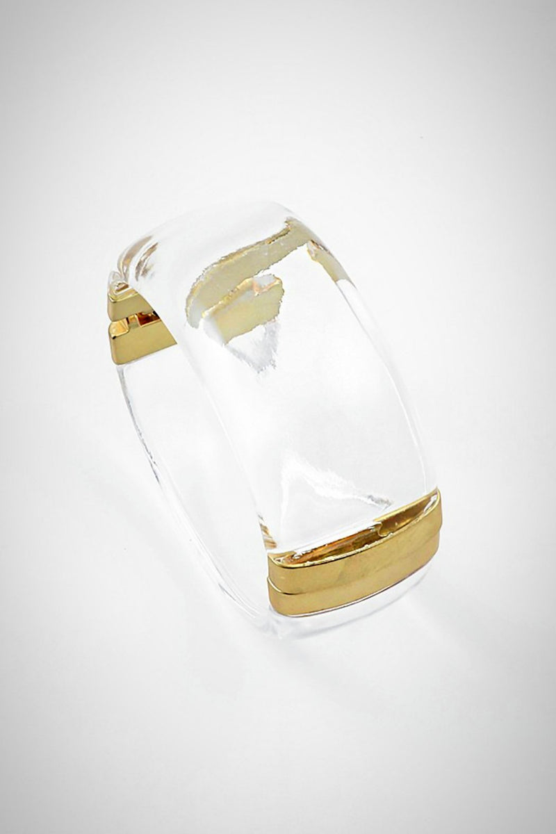 Lucite In the Clear Bracelet - Embellish Your Life