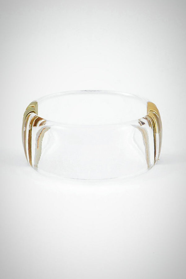 Lucite In the Clear Bracelet