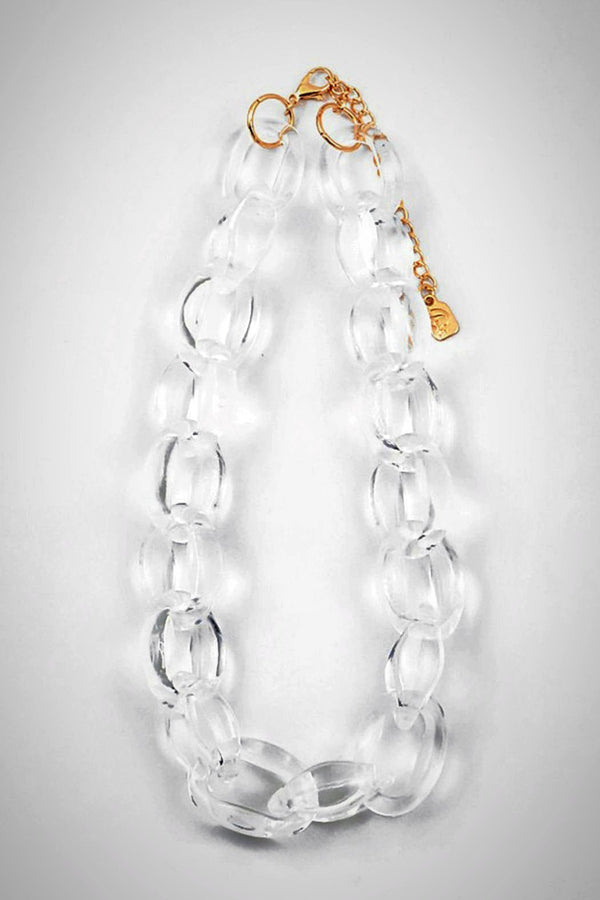 Lucite Small-Links Necklace - Embellish Your Life