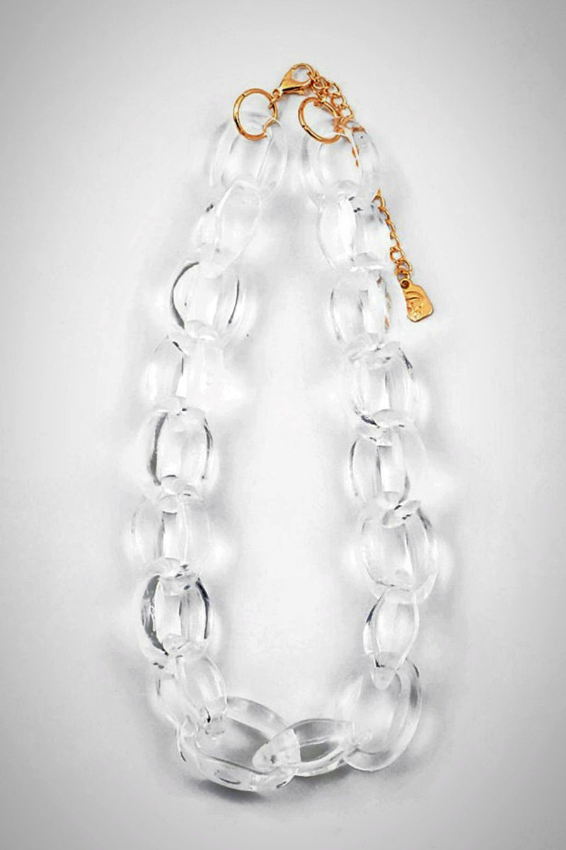 Lucite Small-Links Necklace
