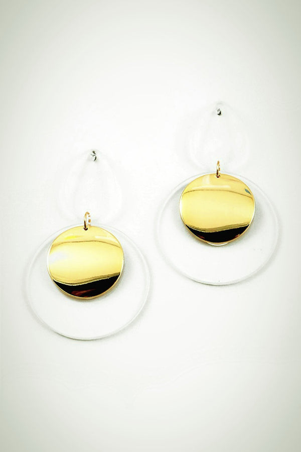 Lucite Modern Earrings