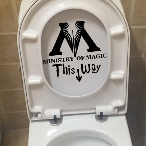 Art Design Ministry Of Magic Bathroom wall sticker home decor Toilet Decal DIY Funny Harry Potter Parody rest room Wall decals