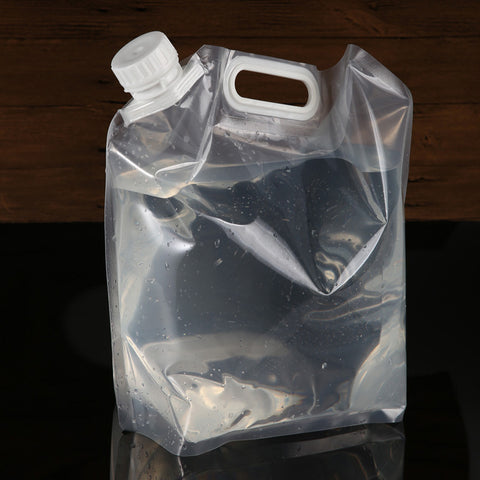 Portable Folding Clear Water Bag Camping Survival Kit Supply 5L Approx. 11.81 x 12.79 inch