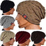 Fall Men Winter Hat knitted Striped hat hedging male wearing star cap double-sided mesh women warm wool hat knitted hat