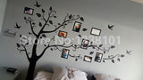 Large 200*250Cm/79*99in Black 3D DIY Photo Tree PVC Wall Decals/Adhesive Family Wall Stickers Mural Art Home Decor