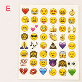 10PCS sheet (480 stickers ) Cute Lovely 480 Die Cut Emoji Smile Sticker For Notebook Message High Vinyl Funny Creative